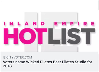 Voted Best Pilates Studio in the IE for 2018